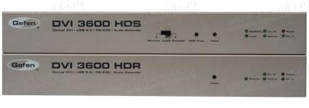 Фото1 EXT-DVI-3600HD - Удлинитель линий DVI (поддержка разрешений до 1920x1200/60 Гц), USB 2.0, RS-232 и а