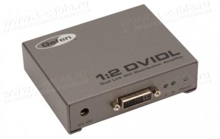 Фото1 EXT-DVI-142DLN - Распределитель сигналов Dual Link DVI 1:2 с опцией каскадного подключения, 1 вход D