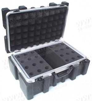 Фото1 BC-MIC24-.. Профессиональный кофр из ударопрочного пластика для хранения и перевозки 24 микрофонов,