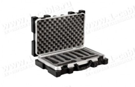 Фото2 BC-MIC9-.. Профессиональный кофр из ударопрочного пластика для хранения и перевозки 9 микрофонов