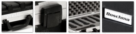 Фото5 BC-MIC9-.. Профессиональный кофр из ударопрочного пластика для хранения и перевозки 9 микрофонов