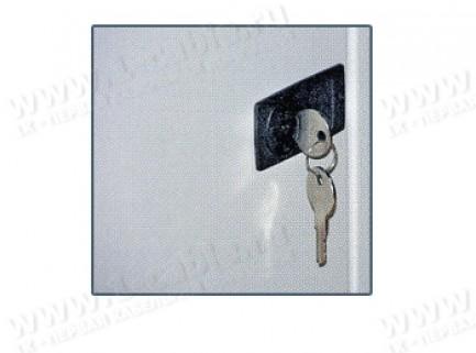 Фото1 PT-3984 - Замок запирающий с ключом для коммутационных рэков с дверью, серия Wall Box