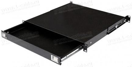 """Фото1 SLT-19-001 - Выдвижной стол 19"""" для клавиатуры, мыши"""