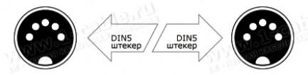Фото2 1K-MIDI5-1.. Кабель цифровой MIDI, DIN5 штекер > DIN5 штекер