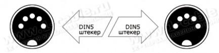 Фото3 1K-MIDI5-1.. Кабель цифровой MIDI, DIN5 штекер > DIN5 штекер