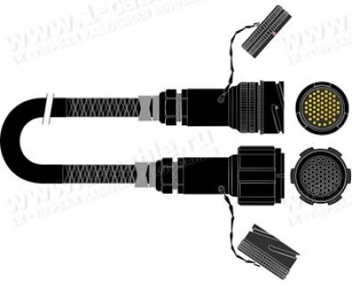 Фото1 1K-PF16TT-1.. 16-кан. студийный аудиомультикорный кабель, Tourline 54-пин штекер > Tourline 54-пин г