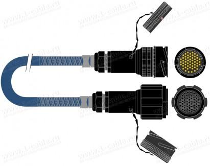 Фото1 1K-PS16TT-0.. 16-кан. туровый аудиомультикорный кабель, Tourline 54-пин штекер > Tourline 54-пин гне