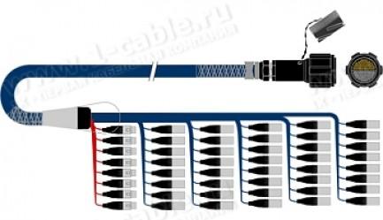 Фото1 1K-PS40/8TGX.. 48-кан.(40-IN/8-OUT) туровый аудиомультикорный кабель, Tourline 176-пин гнездо-штекер