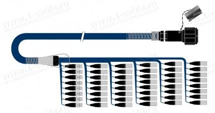 Фото1 1K-PS40/8TX-.. 48-кан.(40-IN/8-OUT) туровый балансный аудиомультикорный кабель, Tourline 150-пин гне