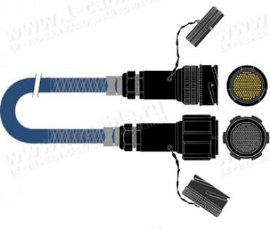 Фото1 1K-PS40TT-.0 40-кан. туровый аудиомультикорный кабель, Tourline 150-пин штекер > Tourline 150-пин гн