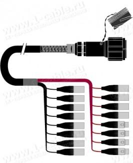 Фото1 1K-PW12/4TX-.. 16-кан.(12-IN/4-OUT) студийный балансный аудиомультикорный кабель, Tourline 54-пин гн