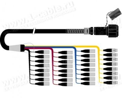 Фото1 1K-PW24/8TMX-.. 32-кан.(24-IN/8-OUT) студийный аудиомультикорный кабель, Tourline 100-пин штекер > к