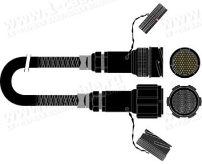 Фото1 1K-PW24TT-1.. 24-кан. студийный балансный аудиомультикорный кабель, Tourline 85-пин штекер > Tourlin