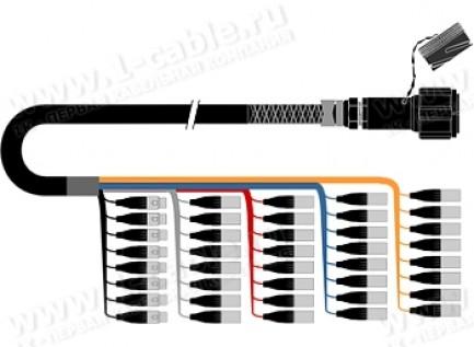 Фото1 1K-PW32/8TX-.0 40-кан.(32-IN/8-OUT) туровый аудиомультикорный кабель, Tourline 150-пин гнездо > коса