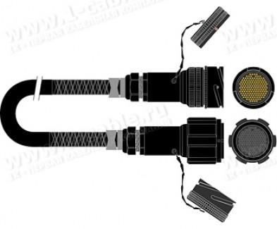 Фото1 1K-PW32TT-.. 32-кан. студийный аудиомультикорный кабель, Tourline 100-пин штекер > Tourline 100-пин