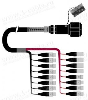 Фото1 1K-PW4/12TX-.. 16-кан.(12-IN/4-OUT) студийный балансный аудиомультикорный кабель, Tourline 54-пин гн