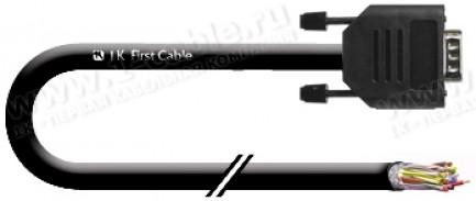 Фото1 1K-RS-09FPT-... Кабель управления RS-232, серия Basic, D-Sub 9пин (гнездо) > Pigtail, эластичный