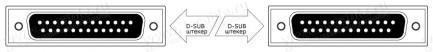 Фото2 1K-RS232-25MM-0.. Кабель управления RS-232, серия Standart, D-Sub 25пин, штекер-штекер, эластичный