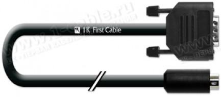 Фото1 1K-RS51-1.. Кабель управления RS-232, серия Basic, D-Sub 9пин штекер > miniDIN 8пин штекер, эластичн