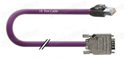 Фото1 1K-RS60-1. Кабель управления RS-232, серия Install, D-Sub 9пин штекер > RJ45 8пин штекер, эластичный