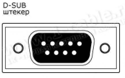Фото2 1K-RS60-1. Кабель управления RS-232, серия Install, D-Sub 9пин штекер > RJ45 8пин штекер, эластичный