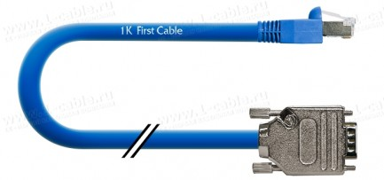 Фото1 1K-RS60E-1. Кабель управления RS-232, серия Basic, D-Sub 9пин штекер > RJ45 8пин штекер, эластичный