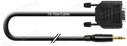 Фото1 1K-RS65-0.. Кабель управления RS-232, серия Standart, D-Sub 9пин гнездо > Jack 3,5 stereo штекер, эл
