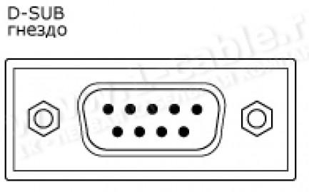 Фото2 1K-RS65-0.. Кабель управления RS-232, серия Standart, D-Sub 9пин гнездо > Jack 3,5 stereo штекер, эл