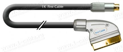 Фото1 1K-V20-.. Кабель видео SCART штекер > S-Video 4pin штекер. Варианты IN/OUT указываются при заказе