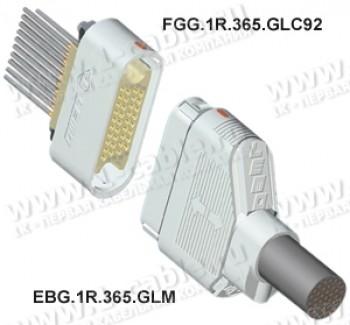 Фото1 ..G.1R.365.GL.. Разъём низковольтный многоконтактный, шестирядный, панельный, гнездо, серия 1R