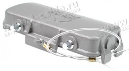 Фото1 09300..542. Защитная крышка для кабельных ответных разъемов Harting (2 защелки)