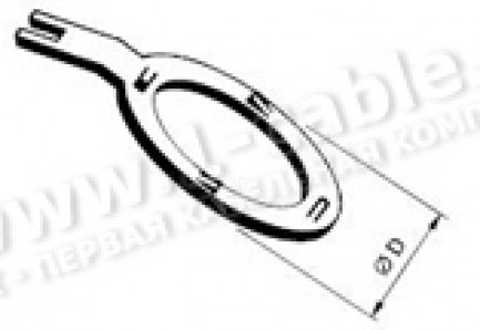 Фото1 1051..1. Кольцо заземляющее для панельных разъёмов