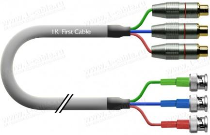 Фото1 1K-V7-..C Кабель видео компонентный RGB, Hi-Fi, 3х RCA гнездо > 3х BNC штекер