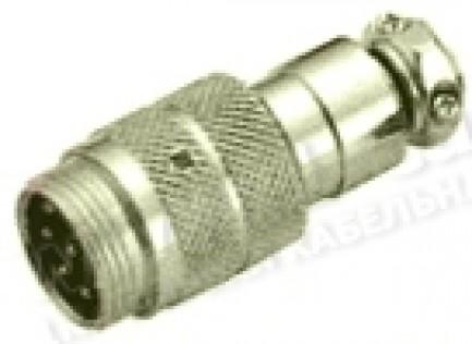 Фото1 80M-401(.P) gold Разъем компактный XLR штекер кабельный, резьбовое соединение
