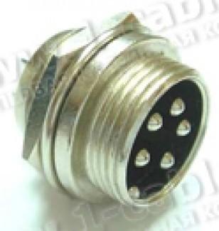 Фото1 80M-403(.P) gold Разъем компактный XLR штекер с резьбовым соединением, панельный, крепление- резьба/