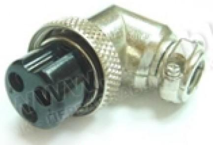 Фото1 80M-408(.P) gold Разъем компактный XLR гнездо кабельный угловой, резьбовое соединение
