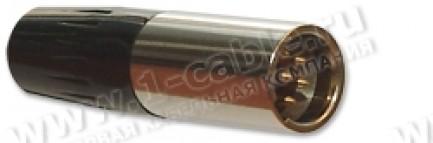 Фото1 92M-501(6P) gold.. Разъем miniXLR 6-контактный, кабельный, штекер