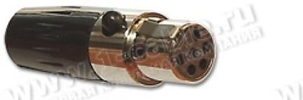 Фото1 92M-502(6P) gold.. Разъем miniXLR 6-контактный, кабельный, гнездо