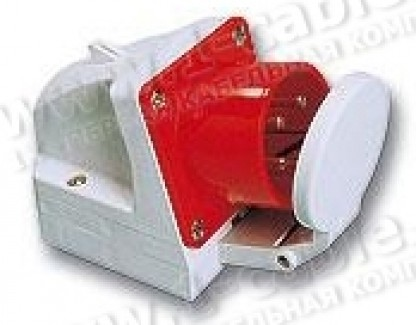 Фото1 AC-05..6d Накладной приборный штекер CEE-типа, боковой ввод, защитная крышка, IP44