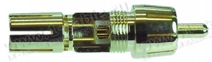 Фото2 AC-6629-6. Разъем RCA кабельный, штекер, ц. контакт- пайка, экран- цанговый обжим, на кабель диам. д