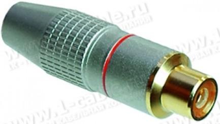 Фото1 AC-9FG. Разъем RCA кабельный, гнездо, пайка, на кабель диам. до 6.0 мм