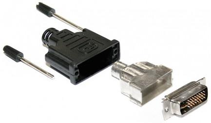 Фото2 AC-DVI2.-M Кабельный разъем DVI, штекер, с корпусом, удлиненные винты