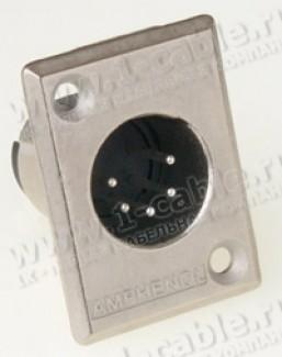 Фото1 AC5MP.. XLR 5 штекер на панель, тип-P
