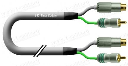 Фото1 1K-VC55-.. Кабель видео комбинированный S-Video (miniDin4 штекер) + RCA штекер (Video CST) > S-Video