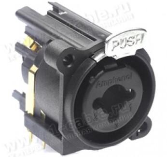 Фото1 ACJC10A.. Разъем Combo (XLR3 + Jack 6.3 стерео) панельный, с нормализацией и выключателем заземления