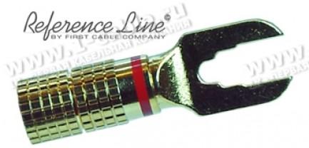 Фото1 ACR-68-. Разъем SPADE (тип-клемма), на жилу диам. 7.0 мм, позолоченный, обжим или пайка