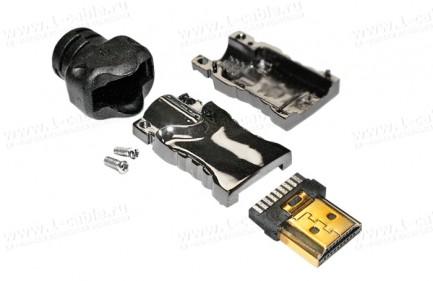 """Фото2 ACR-HDMI19-M.. Кабельный разъем HDMI, штекер, серия """"Reference Line"""", с металлическим разборным корп"""