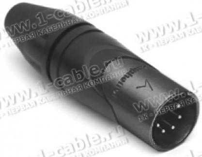 Фото1 AX5MB.. XLR 5 штекер, литые контакты, черненый, цанговый зажим, серия AX