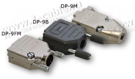 Фото1 DP-H09.. Корпус разъема D-SUB для 9-контактных (2-х рядных) или 15-контактных (3-х рядных) колодок,