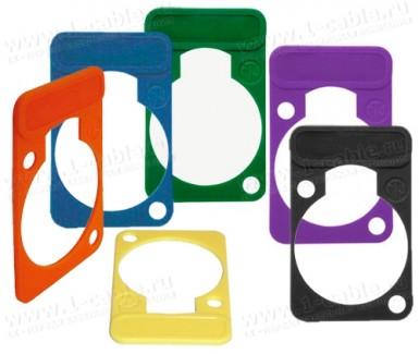 Фото1 DSS-.. Табличка маркировочная цветная, для панельных разъемов XLR, D- посадка